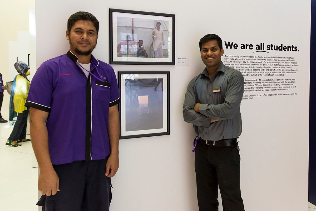 NYUAD Staff Exhibition: We Are All Students