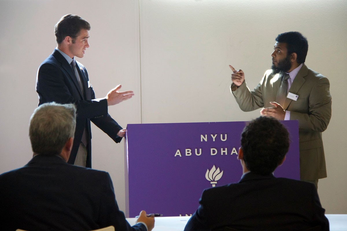NYUAD Holds First Inter-university Debate