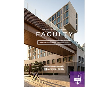 NYU Abu Dhabi Faculty Magazine
