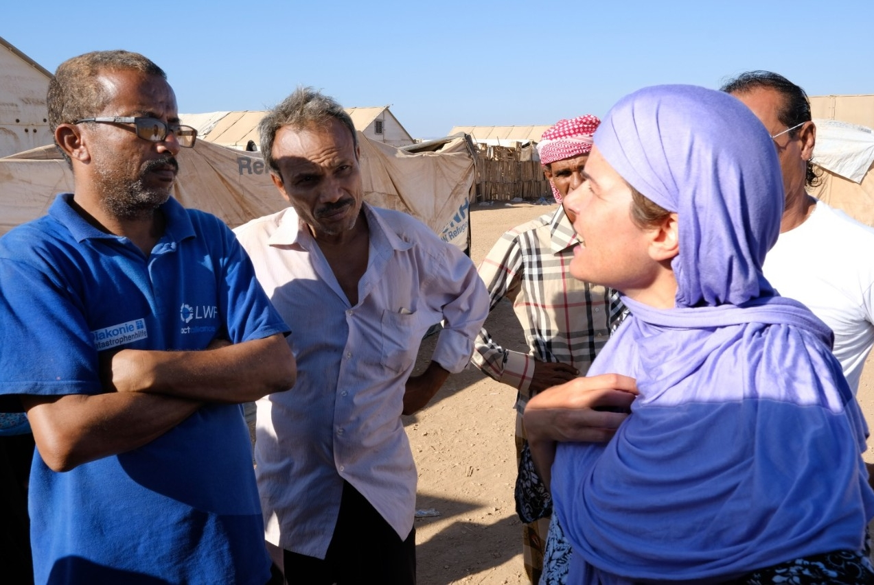 Peutz conducts research at a refugee camp in Djibouti.