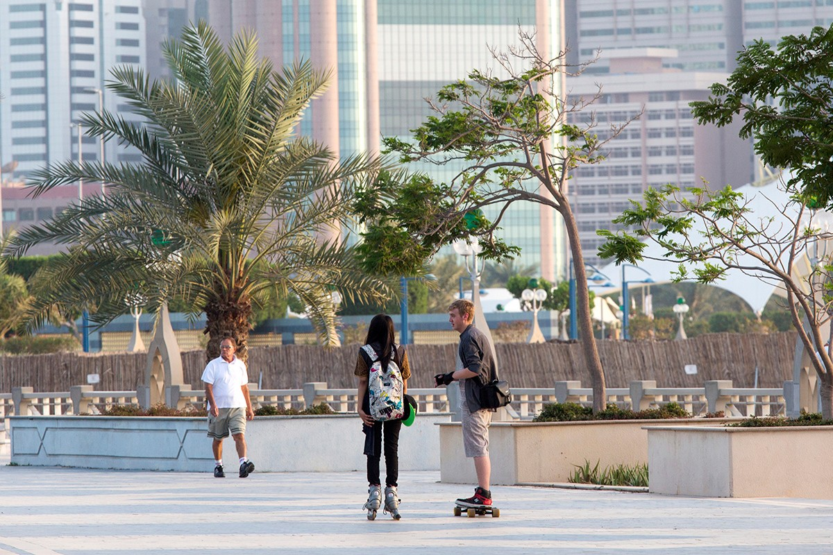 The corniche in Abu Dhabi.