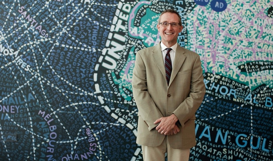 Portrait of Peter Christensen at NYU Abu Dhabi.