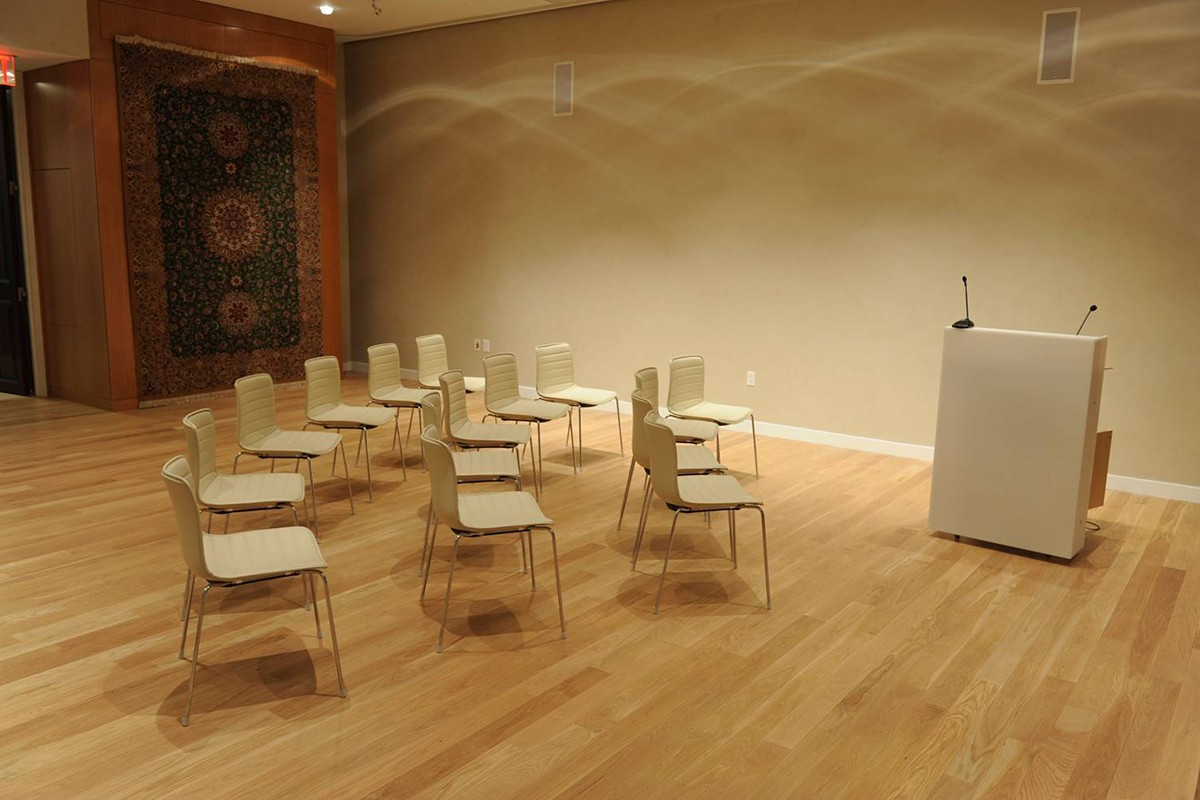 19 WSN Events Space set up in lecture format.