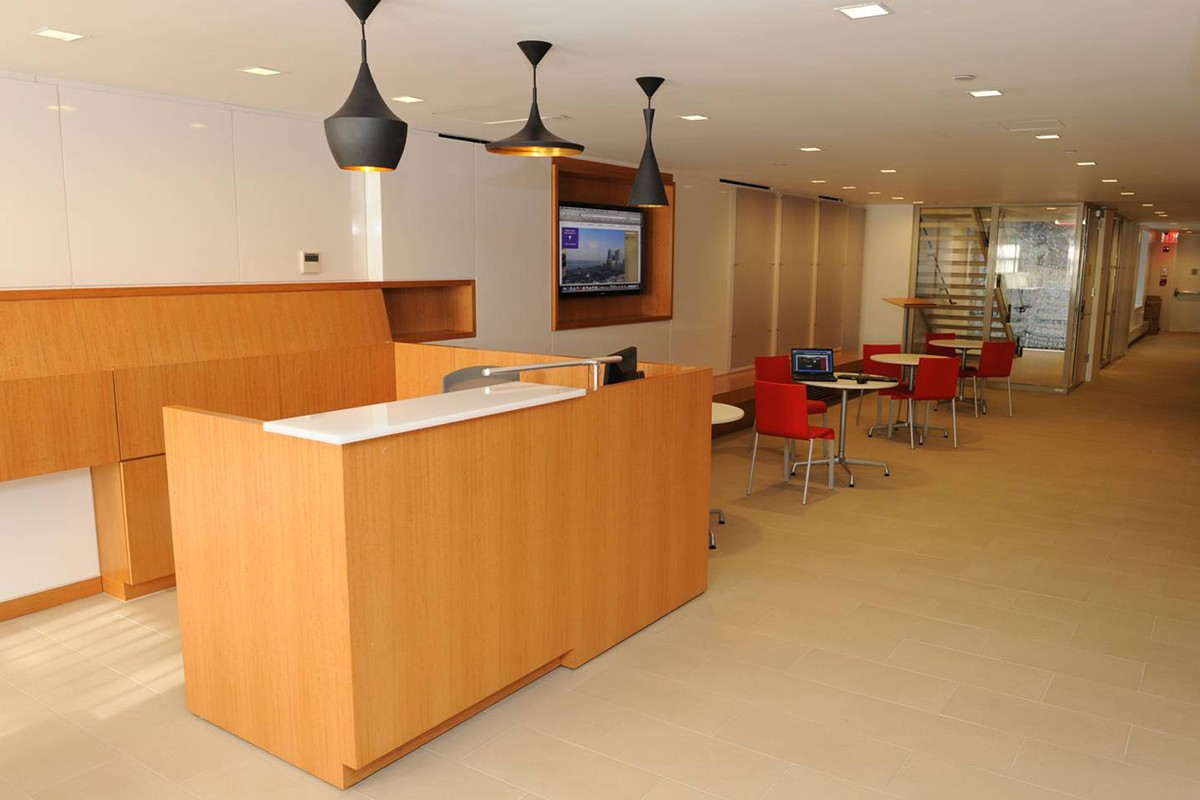 The reception area at 19 Washington Square North.
