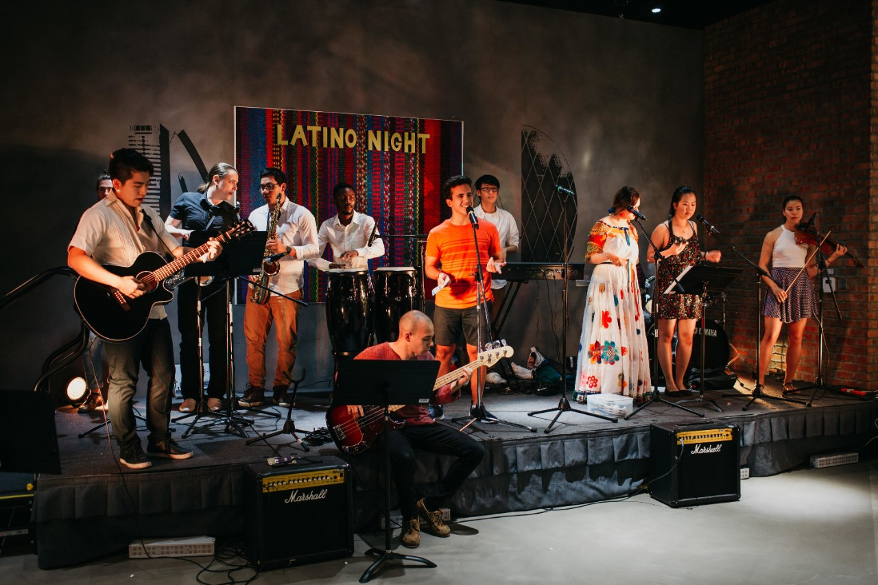 Students perform at Latino Night.