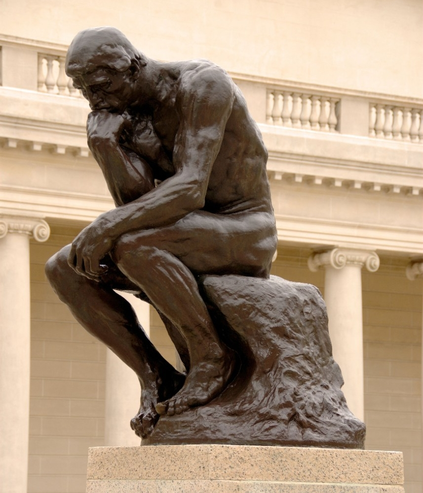 *The Thinker*, by Auguste Rodin