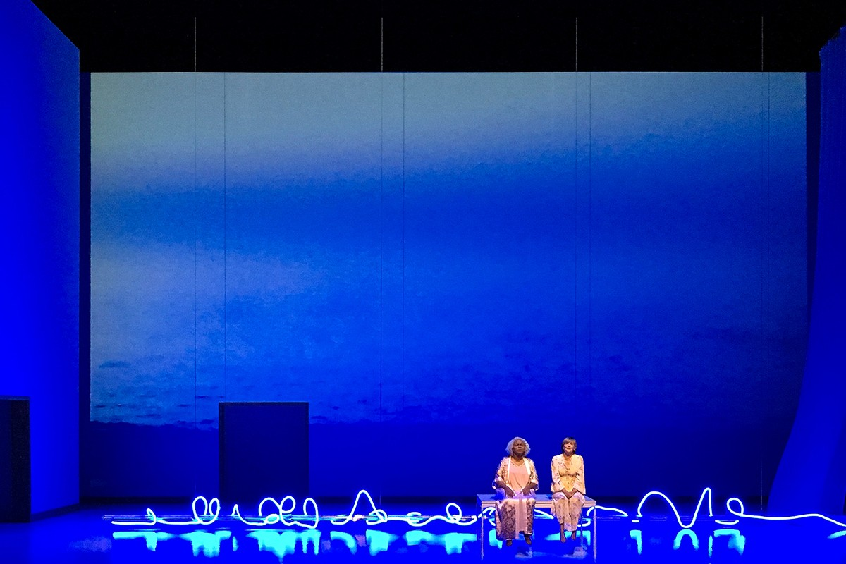 Marietta Simpson and Frederika Von Stade in Sky on Swings.