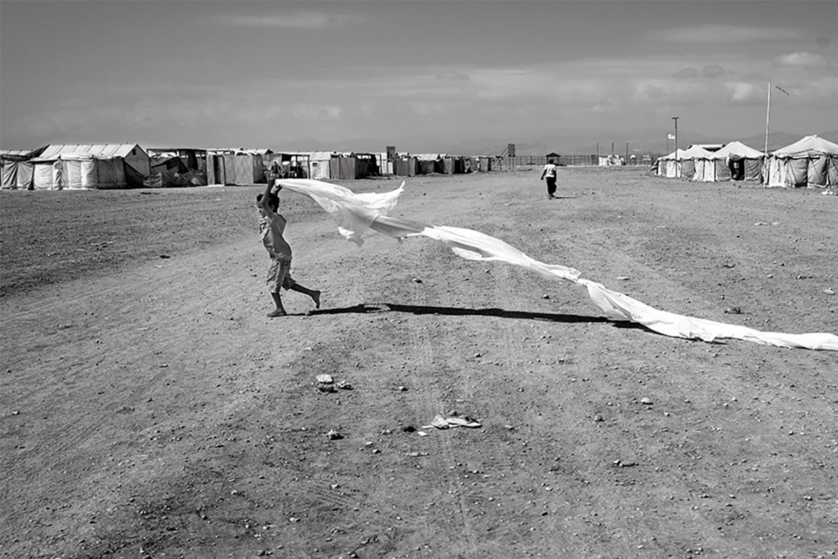 A child plays at the Markazi refugee camp in Djibouti. Nadia Benchallal