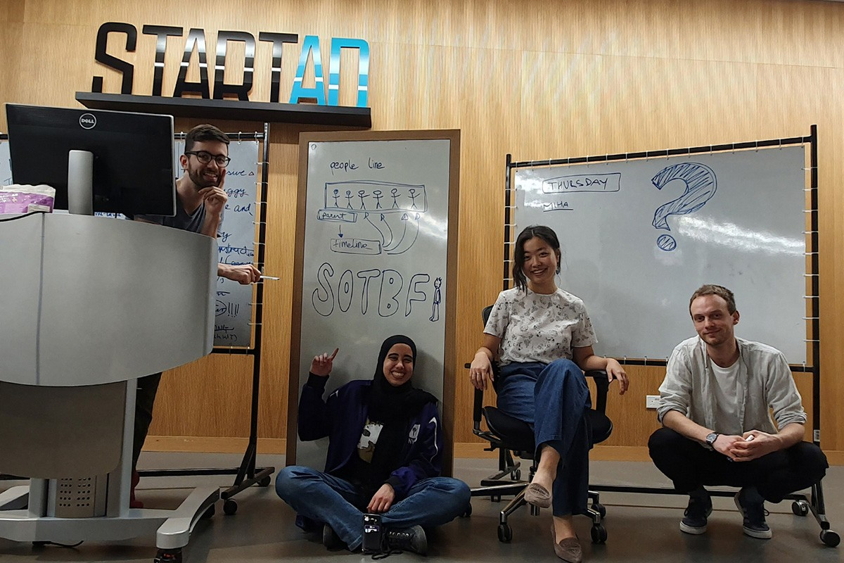 Gabor Csapo, Class of 2018, Miha Klasnic, Class of 2018, Jihyun Kim, Class of 2018, and Alia ElKattan, Class of 2019 founded Survival of the Best Fit.