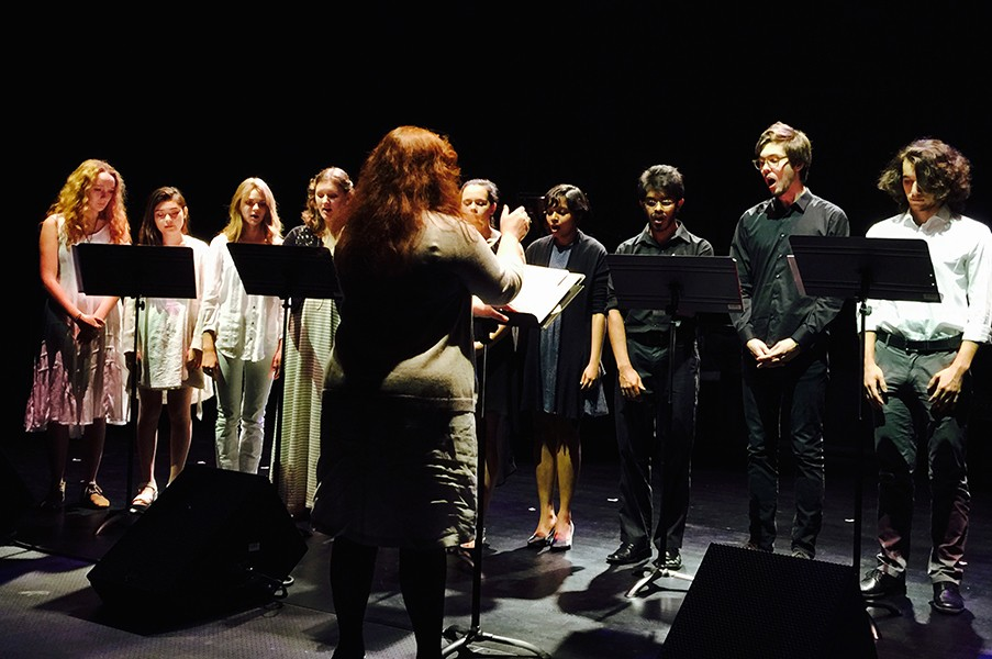 NYUAD Vocal Ensemble directed by Professor Clare Lesser.
