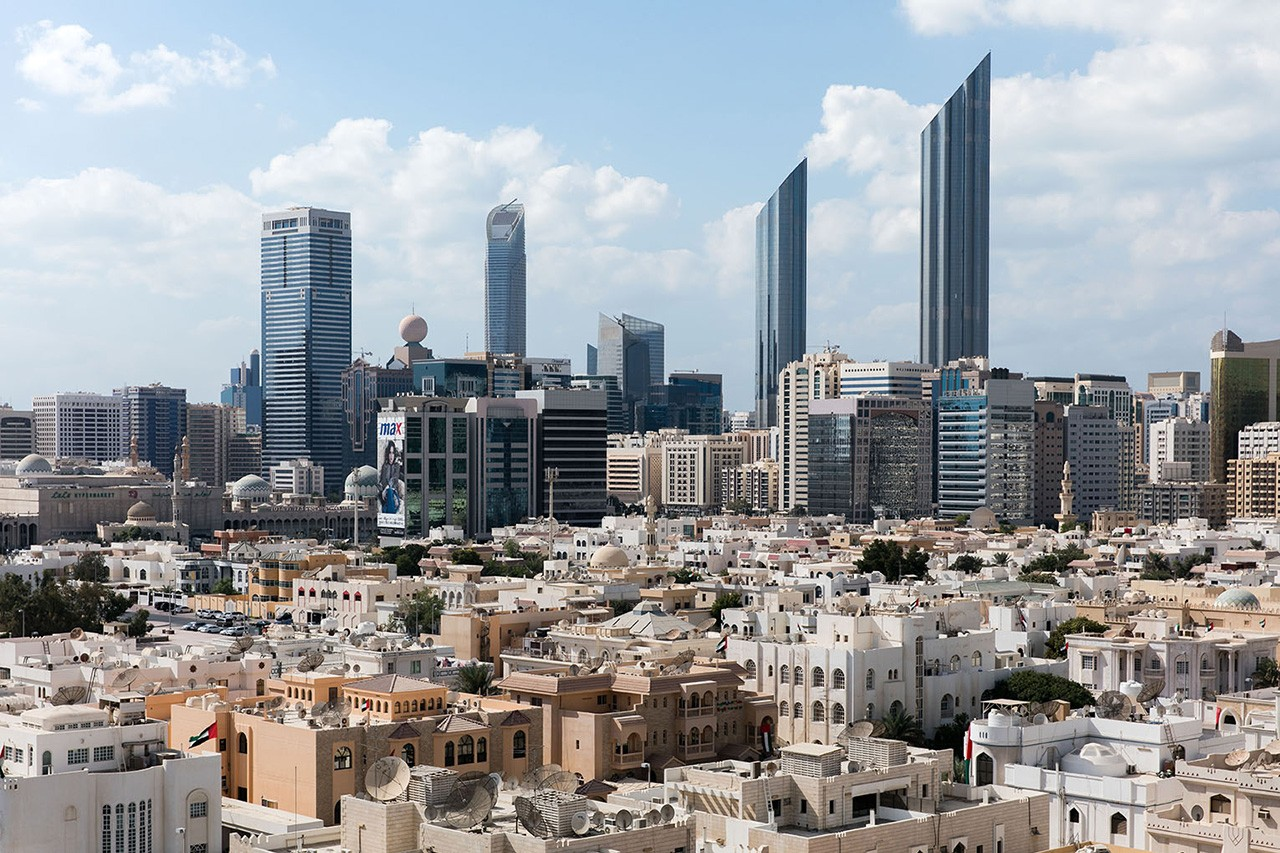 A view of downtown Abu Dhabi.