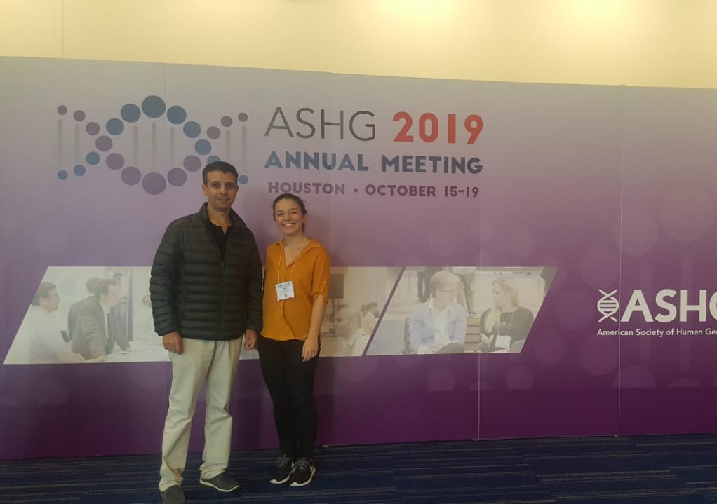 Tami Gjorgjieva and mentor Professor Youssef Idaghdour at the American Society of Human Genetics 2019 conference in Houston, TX, USA.