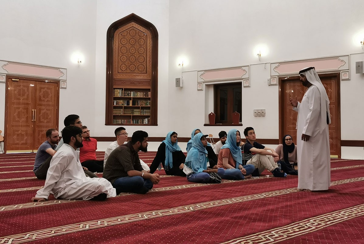Visiting undergraduate students visited the Sheikh Mohammed Centre For Cultural Understanding in Dubai.