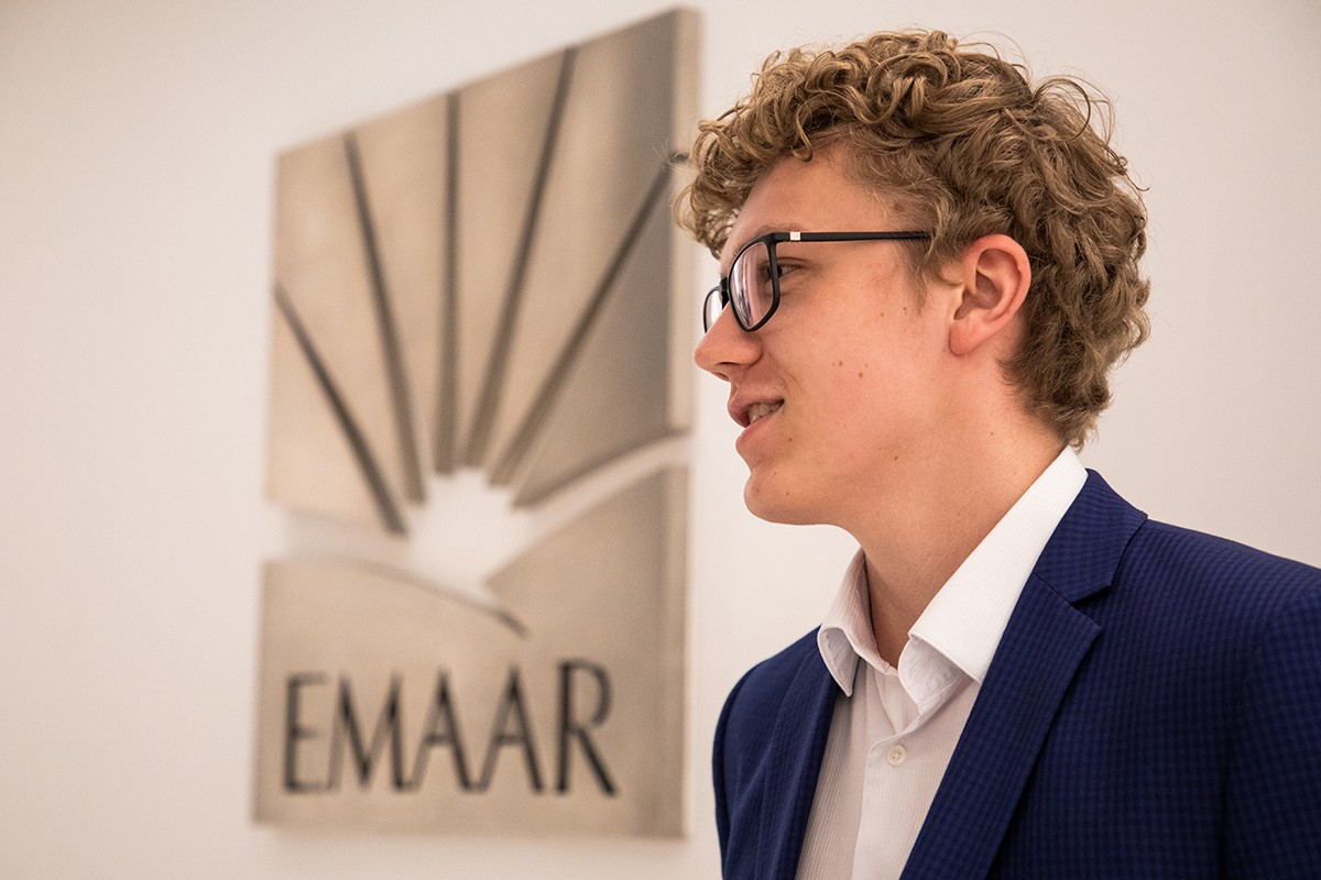 Artem Misiurenko interned at Emaar Properties, Dubai