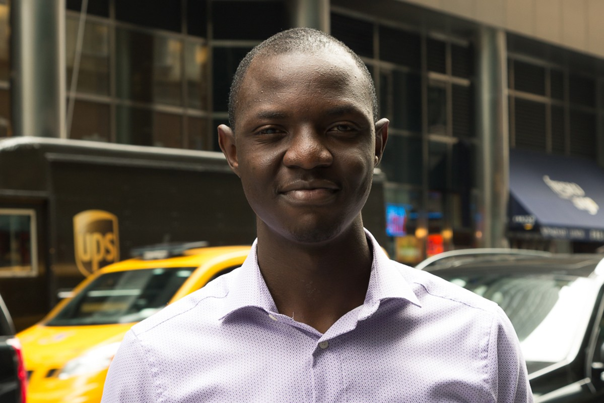 Charles Chansa interned at BlackRock in New York.