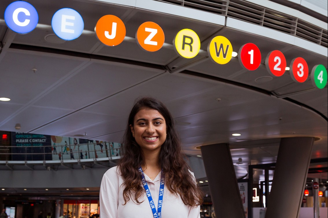 Dhruvi Joshi interned at the Metropolitan Transportation Authority (MTA) in New York City.