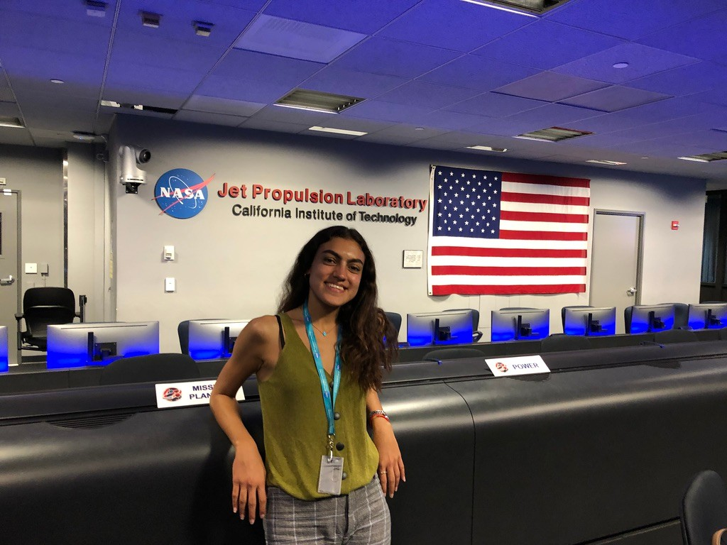 Ingie Baho, Class of 2021, at the Jet Propulsion Laboratory a NASA-owned institution at California Institute of Technology.