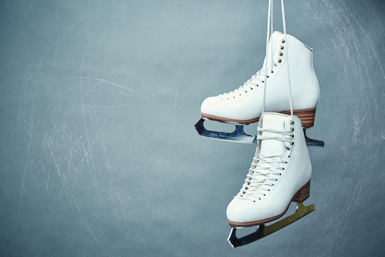 A pair of figure ice skates. iStock.