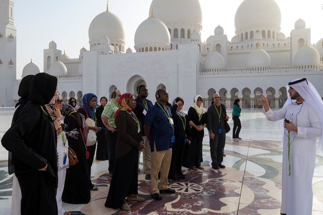 Visiting the grand mosque during Parent Marhaba.