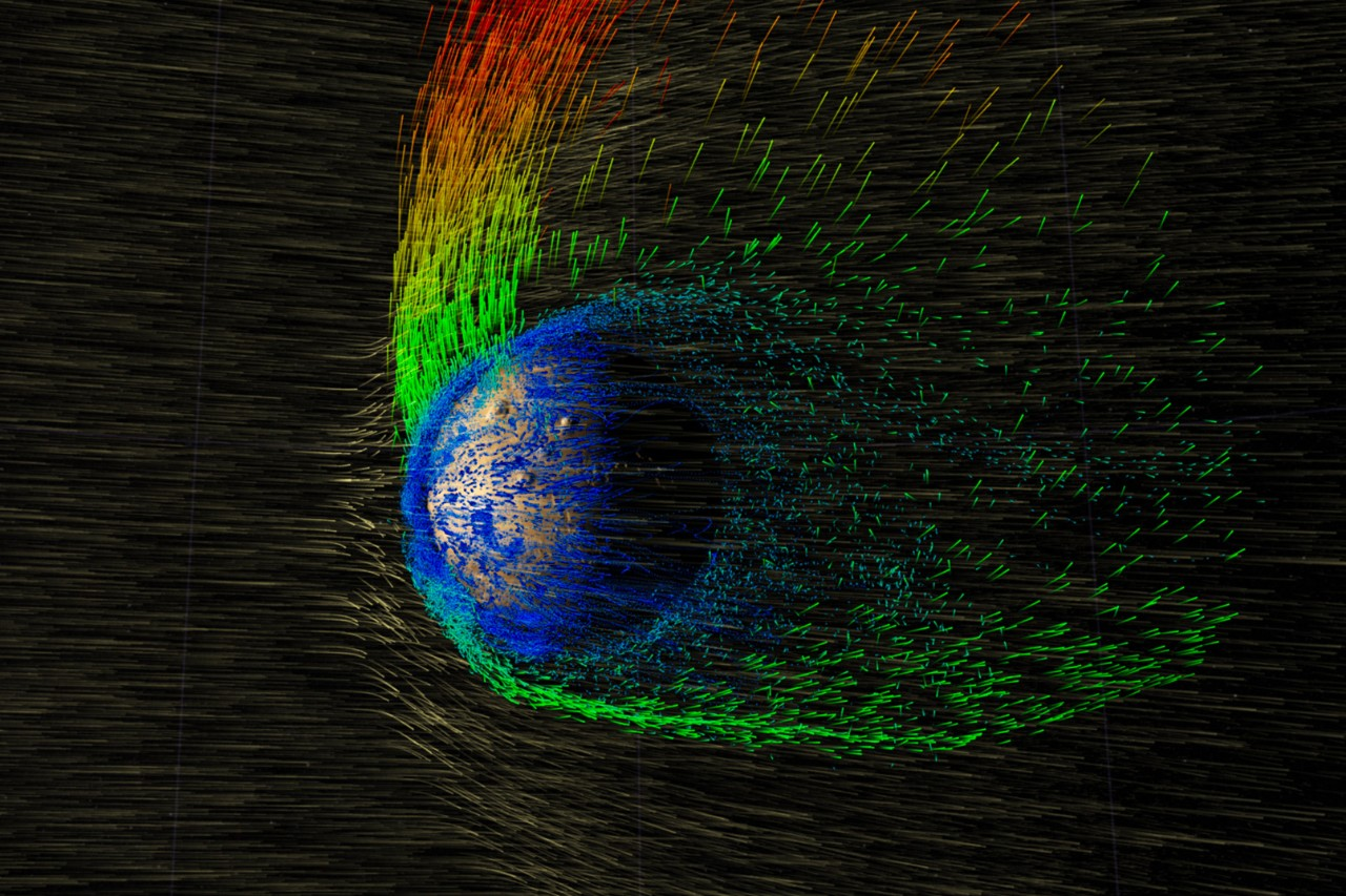 Space Weather at Mars: Past and Present Signatures