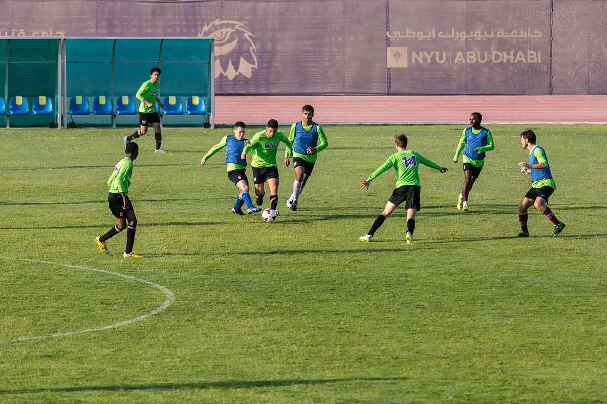 NYUAD offers a full-sized, natural FIFA certified competition pitch used for football and rugby.
