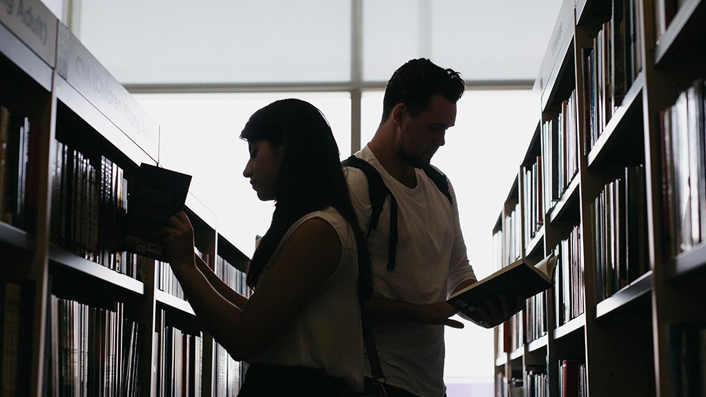 The NYU Abu Dhabi library borrow, renew, return