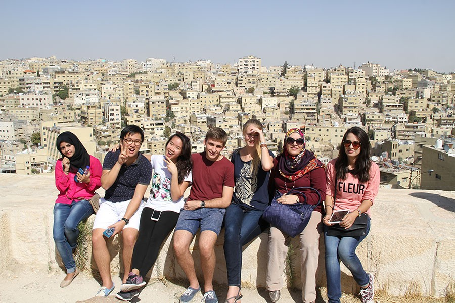 Students on a trip to Amman