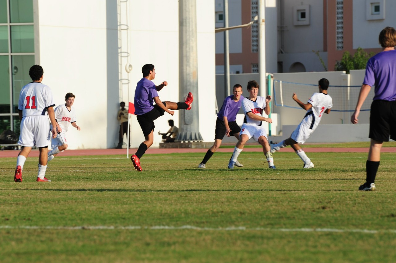 NYUAD students and coaches travel to Doha, Qatar, representing the NYUAD football team.