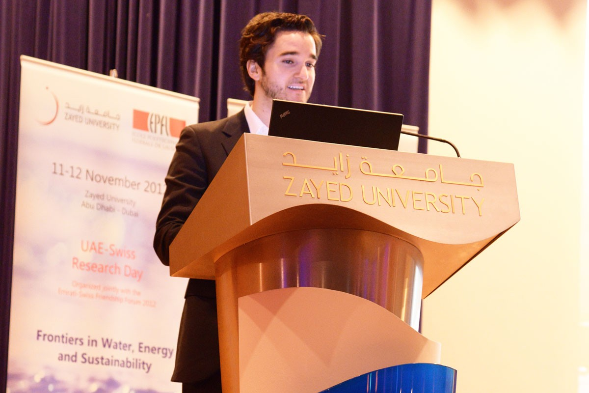 NYUAD Sophomore Presents at Conference on Water Sustainability