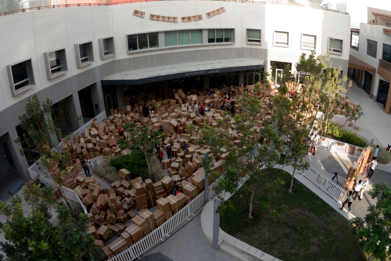 Campus Transformed Into Cardboard City