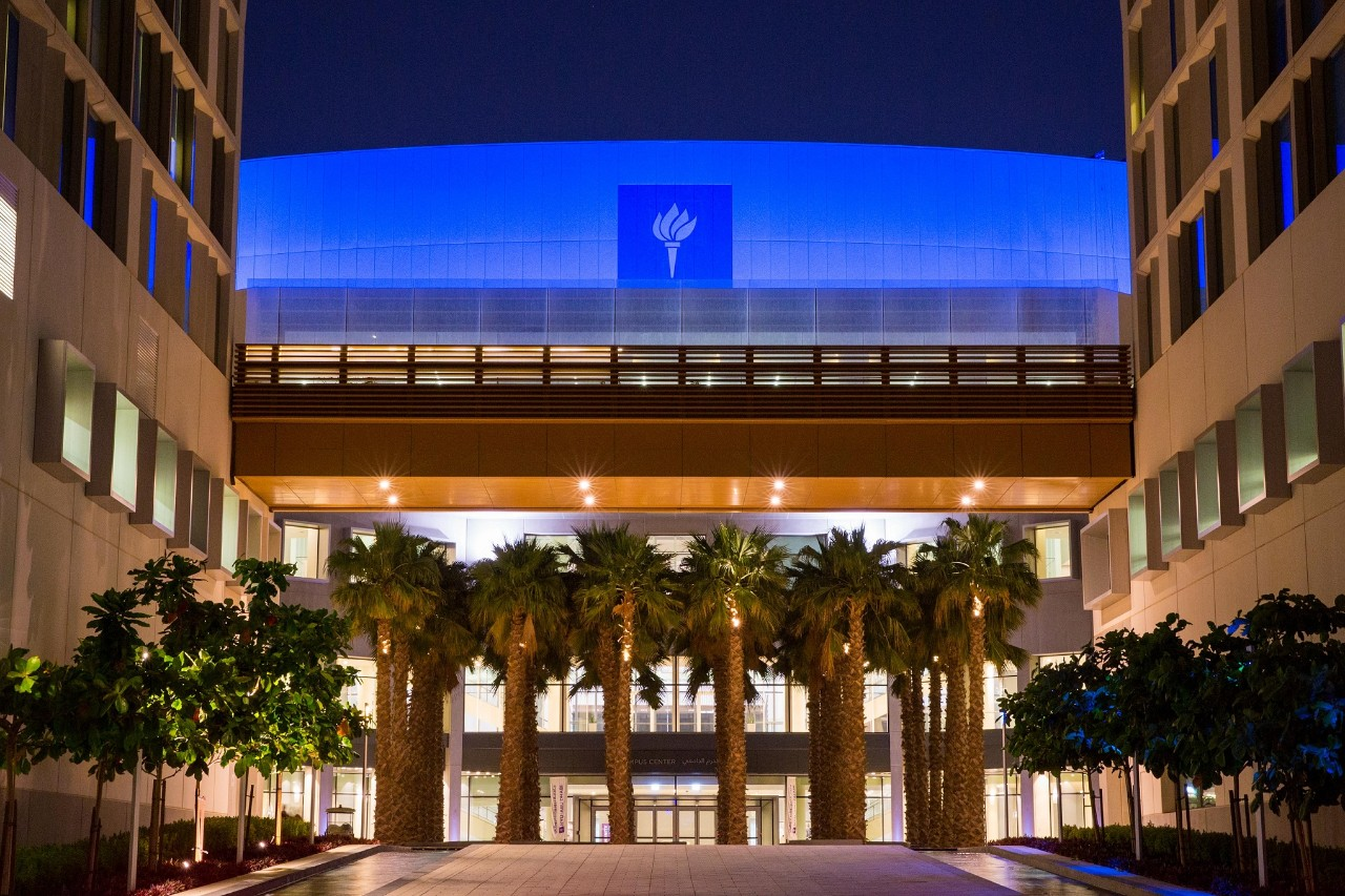 NYUAD supports the worldwide Light It Up Blue campaign for autism awareness.