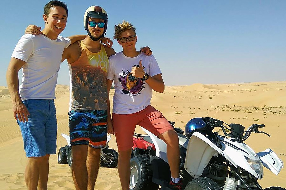 Quad biking in the desert. Photo by @learten