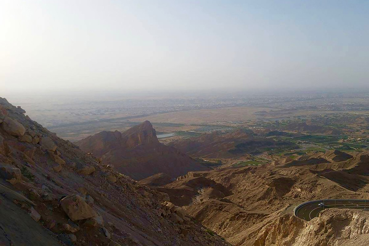 Atop Jebel Hafeet mountain.