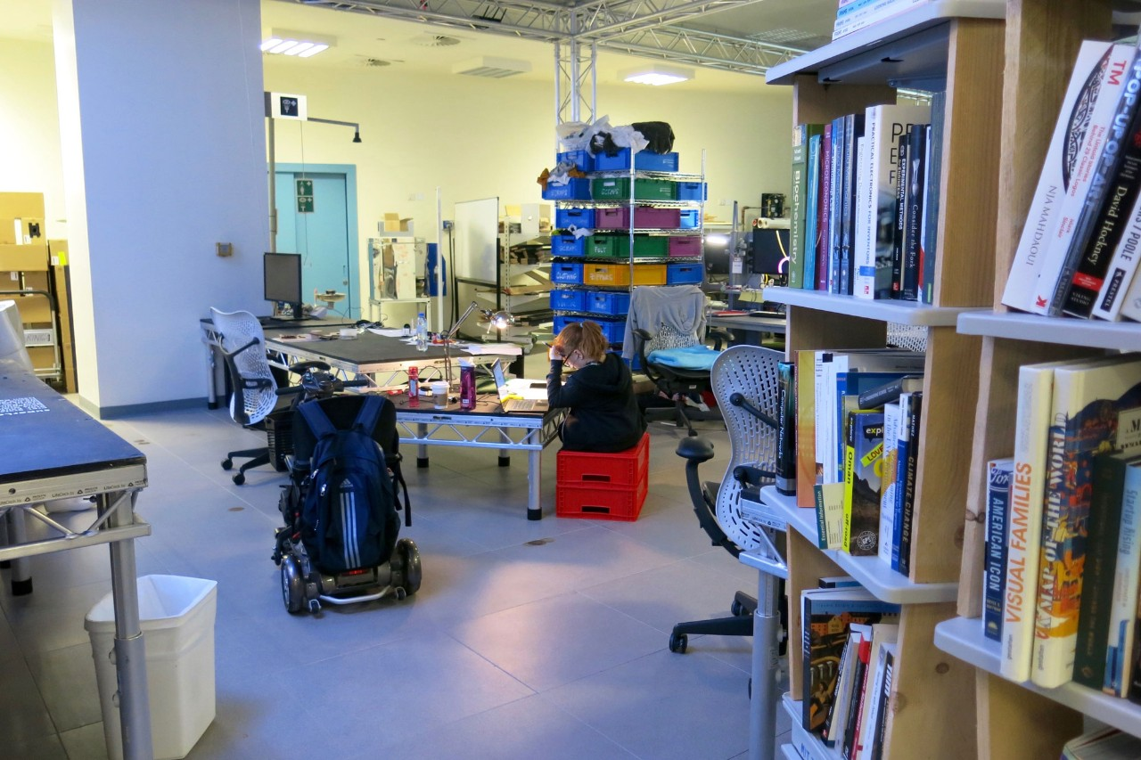 The Engineering Design Lab, also known as the Superlab, is a great place to study.