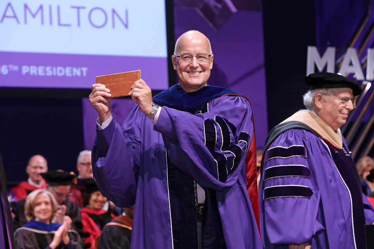 Andrew Hamilton Inaugurated as 16th President of NYU