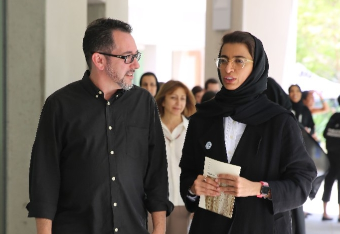 Her Excellency Noura Al Kaabi tours NYU Abu Dhabi's performing and visual art spaces-3.jpg
