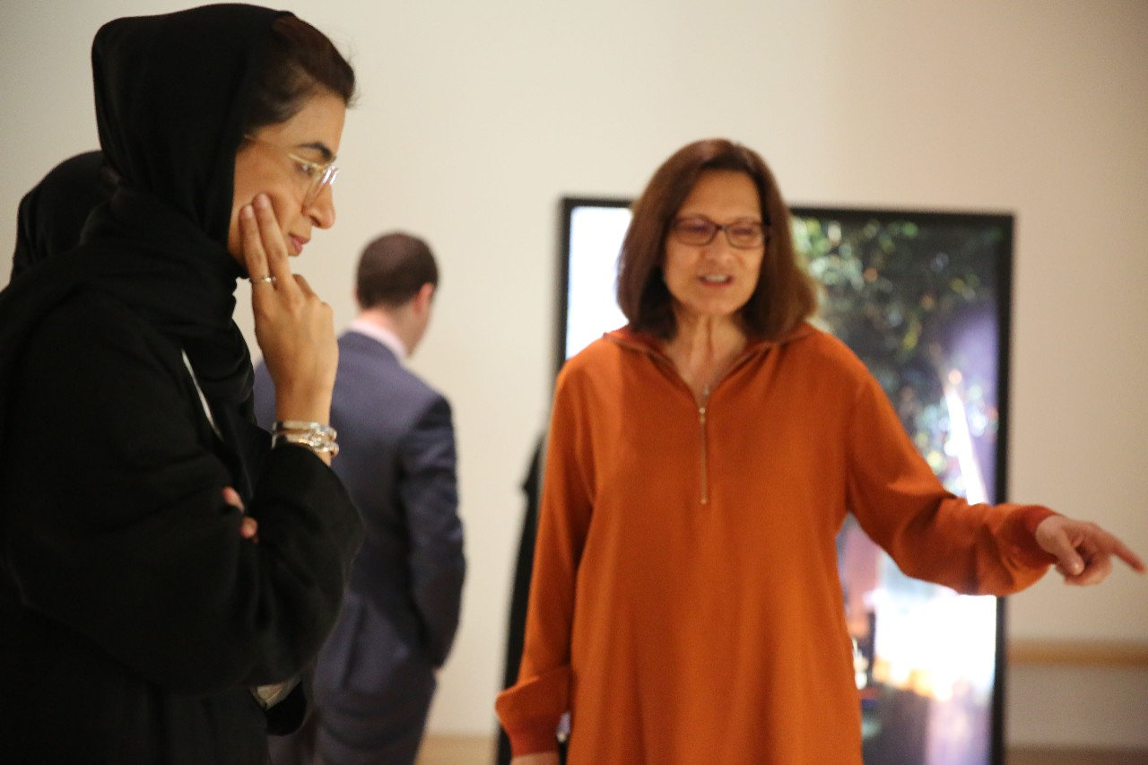 Her Excellency Noura Al Kaabi tours NYU Abu Dhabi's performing and visual art spaces