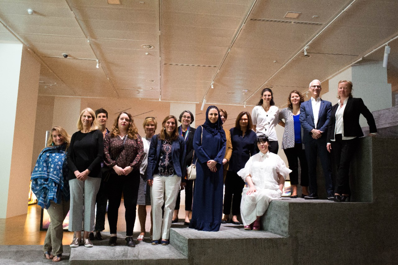 US Art Delegates visit NYU Abu Dhabi and connect with UAE artists