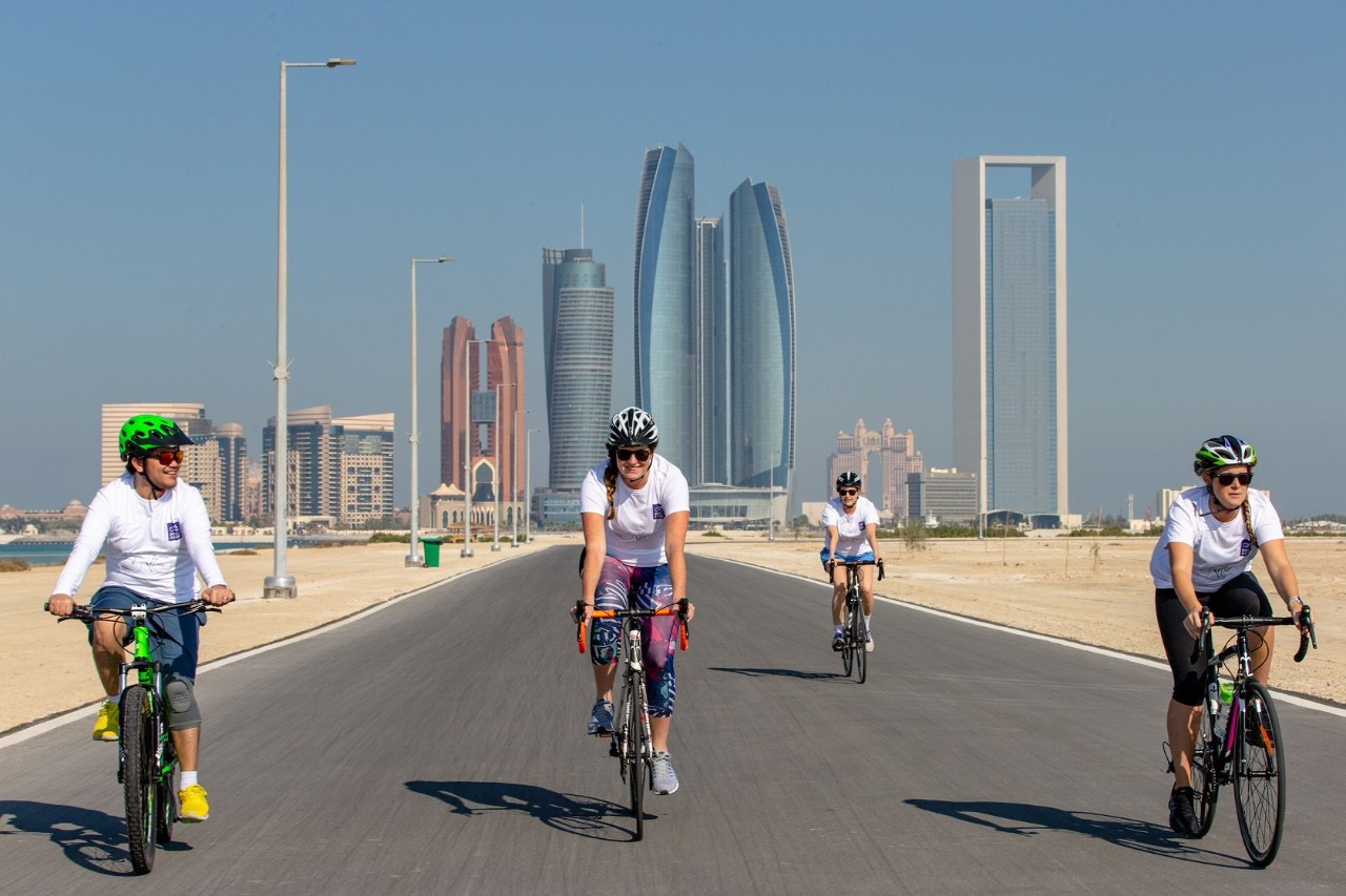 New York University Abu Dhabi's Ride for Zayed on Al Hudayriat Island in Abu Dhabi, United Arab Emirates