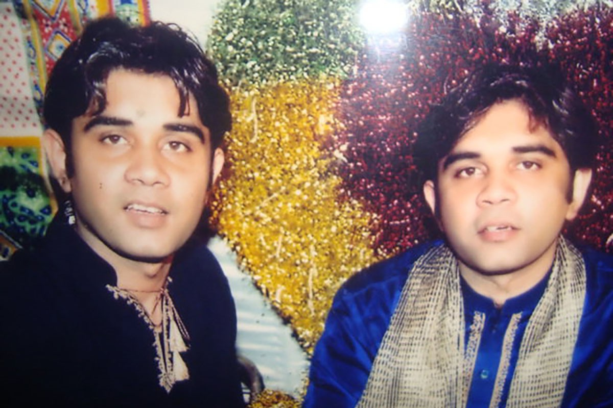 Nadeem Asad, left, and Naeem Asad, right, at Naeem's wedding day in December 2004.
