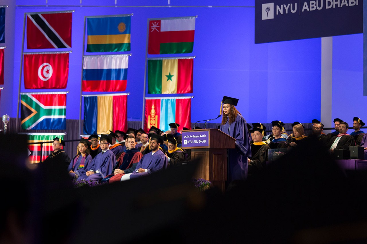 A scene from NYU Abu Dhabi Commencement.