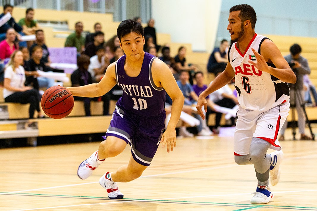 A basketball competition at NYU Abu Dhabi.