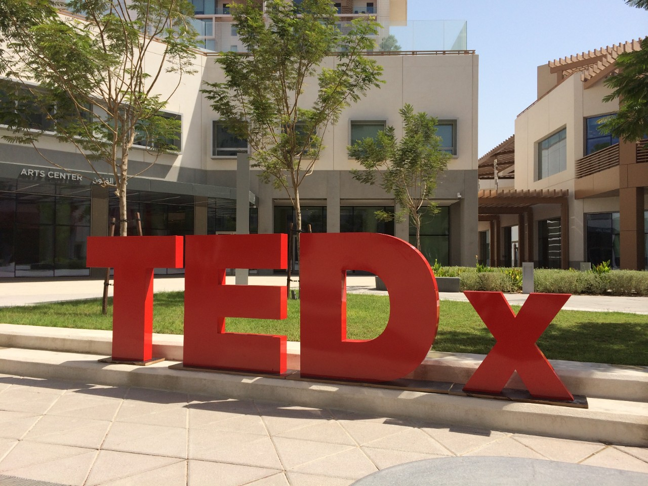 TEDx sign on Saadiyat Campus