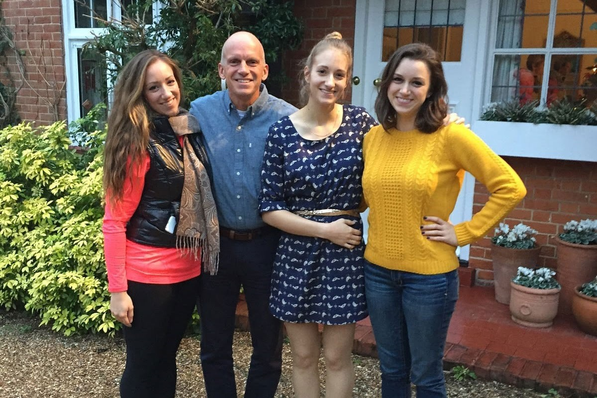 Wayne Young, Director of Wellness, second from left, with his daughters.