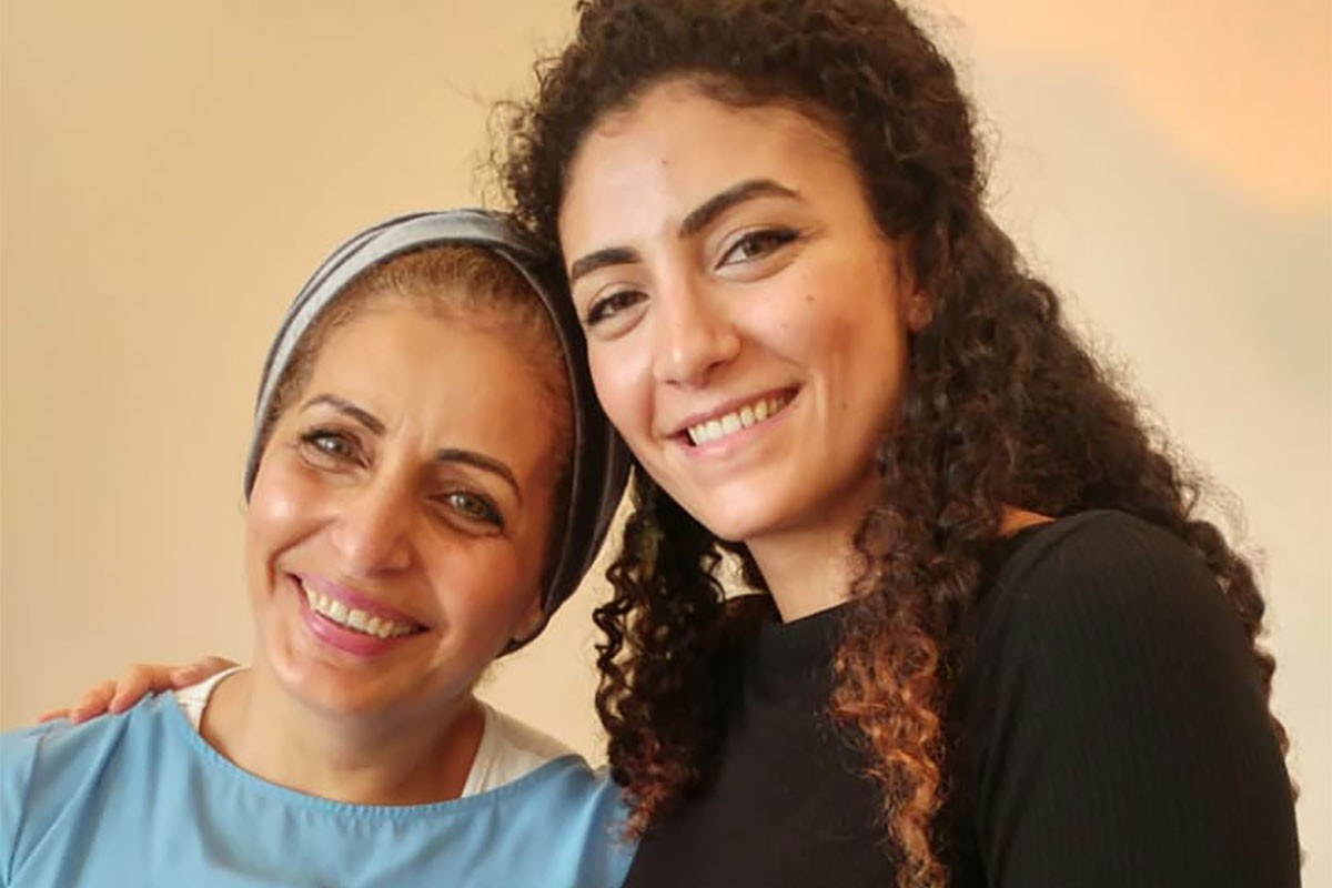 Tala Hammash, NYUAD Community Outreach Specialist, right, with her mother.