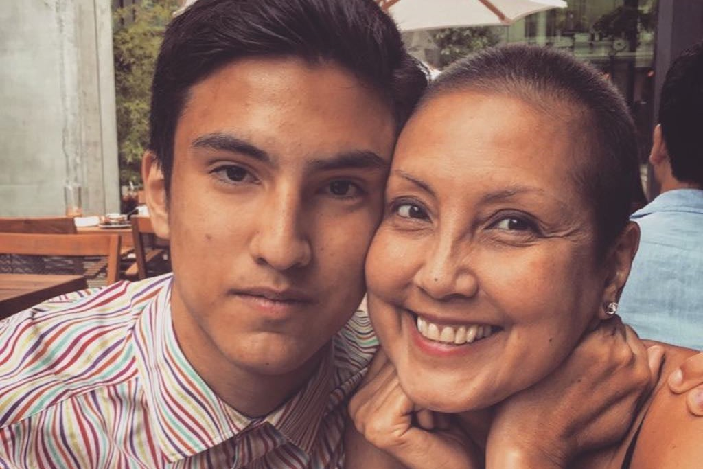 Sebastiano Pio Matera, Class of 2021, left, with his mother.