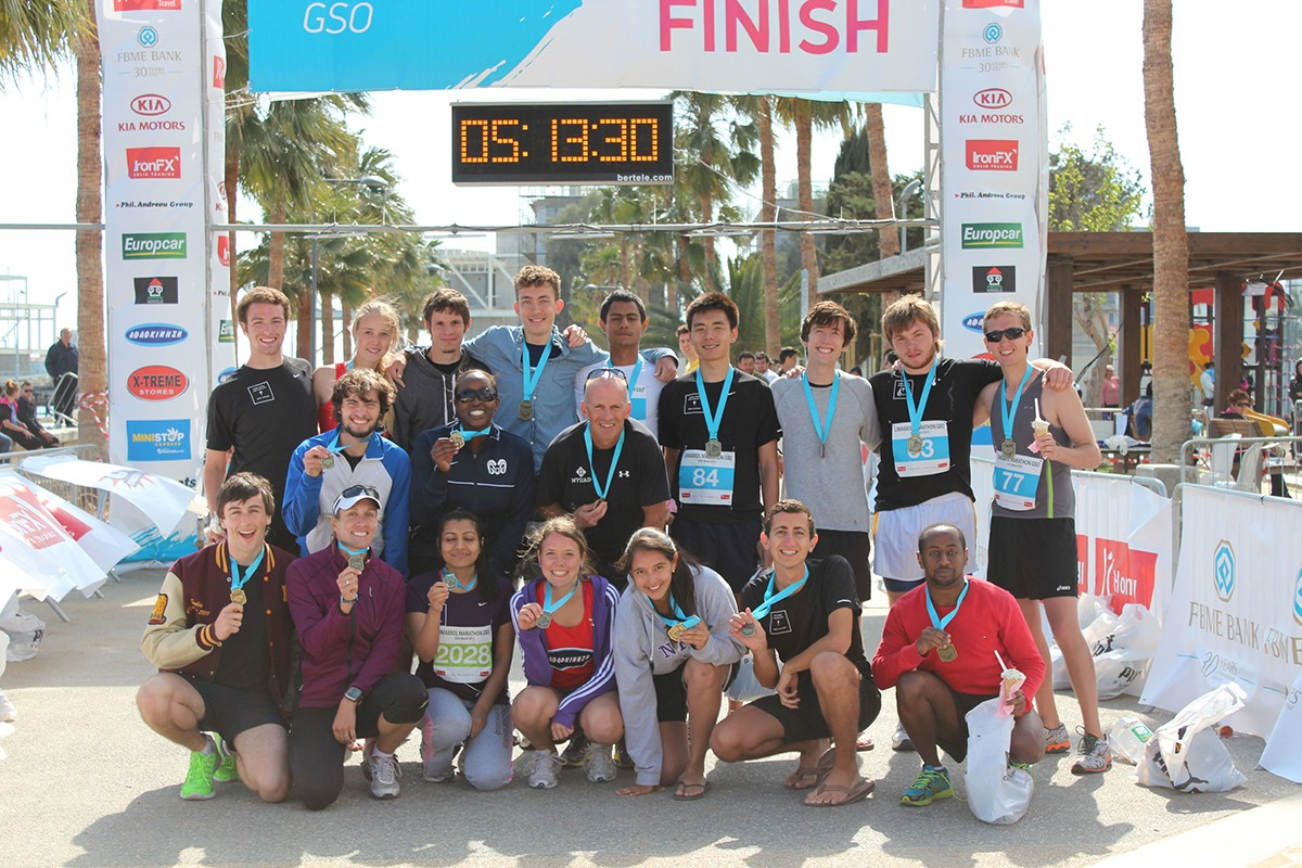 NYUAD Runners Travel to Cyprus for Limassol Marathon
