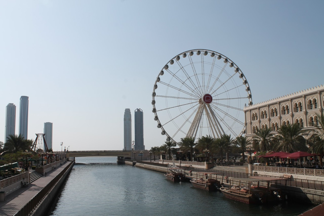 The Eye of The Emirates Wheel in Al Qasba, Sharjah.