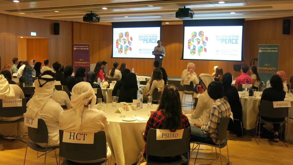 More than 60 UAE students gather at NYUAD for World Peace Day