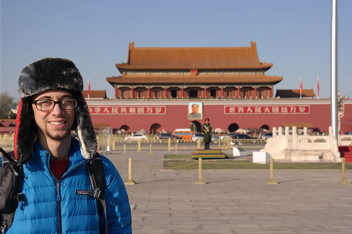 Benjamin Marcus-Willers, Class of 2017, in Beijing.